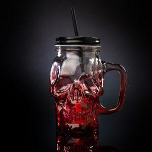 Skull Mug Red